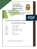 Conversatorio de GRD en Conmemoración Al Terremoto de Yungay