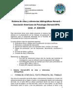 Artículo Sistema de Citas y Referencias Bibliográficas Harvard APA