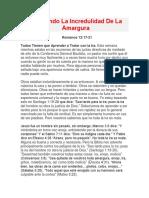 Batallando La Incredulidad De La Amargura.docx