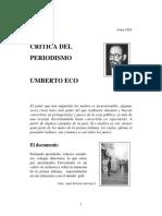 Umberto Eco - Crítica Del Periodismo