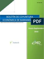 Boletin Economico de Barranquilla Enero a Septiembre 2016