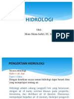 Hidrologi PPT