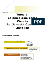 La Psicologia Como Ciencia