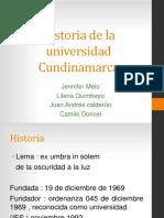 Historia de La Universidad Cundinamarca