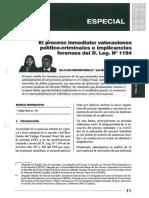 Gaceta Penal, El Porceso Inmediato, Valoraciones Político-criminales e Implicancias Forenses Del D.leg. 1194