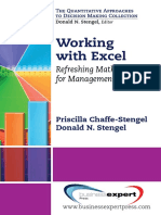 Working with Excel; Refreshing Math Skills for Management