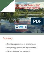 Zulmira Ximenes - Ecohydrology Approach