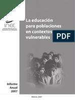 Educacion Poblaciones Vulnerables Mexico