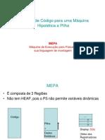 MEPA - Máquina de Execução para Pascal e sua linguagem de montagem