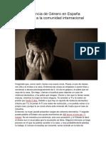 Ley de Violencia de Género en España Conmociona a La Comunidad Internacional