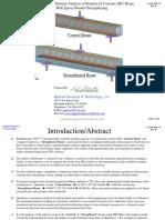 NonLinear FEA Concrete Beam (RC) Epoxy Bonded Strengthening_wAppendix