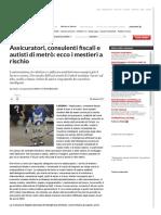 Assicuratori, Consulenti Fiscali e Autisti Di Metrò_ Ecco i Mestieri a Rischio - Repubblica