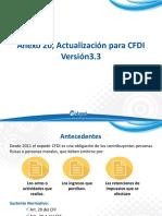 Anexo 20, Actualización para CFDI Versión3.3