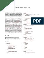 List of News Agencies