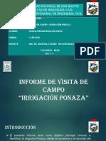 Irrigacion Ponaza.