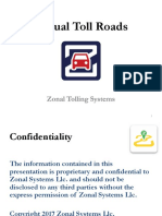Toll Zones - Zonal Toll Roads and Paid Parking