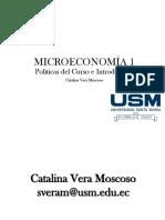 Sesion 01 - Políticas e Introducción Al Curso de Microeconomía I