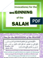 Duas (Invocations) for the Beginning of the Salah