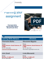 2015 Lecture Planning Your Assignment AZA 1366