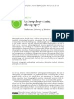 Anthropology Against Ethnography Ingold