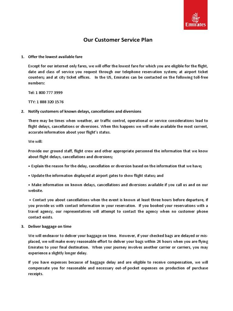 Ek Customer Service Plan V1 | Emirates (Airline) | Airport