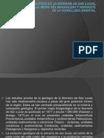 Evolución Geológica de La Serranía de San Lucas