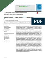 La Efectividad Clínica de Las Restauraciones Directas Anteriores-Un Metaanálisis