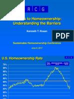 2017 06 09 Sustainable Homeownership Conference Kenneth Rosen Presentation Slides 06-15-2017