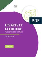 Livre blanc sur les arts et la culture francophones en Ontario