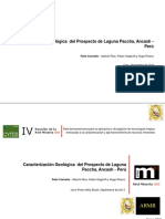 Geologica Del Porfido de Laguna Paccha 2014 CONAINGEO
