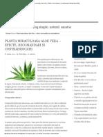 Planta Miraculoasa Aloe Vera – Efecte, Recomandari Si Contraindicatii _ Blog NaturaShop