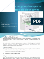 Sistema de carguío y transporte en la minería Block Caving ppt.pptx