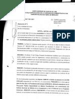 Resolución Nº 2, de fecha 27 de enero de 2017, de la Quinta Sala Especializada en los Contencioso Administrativo