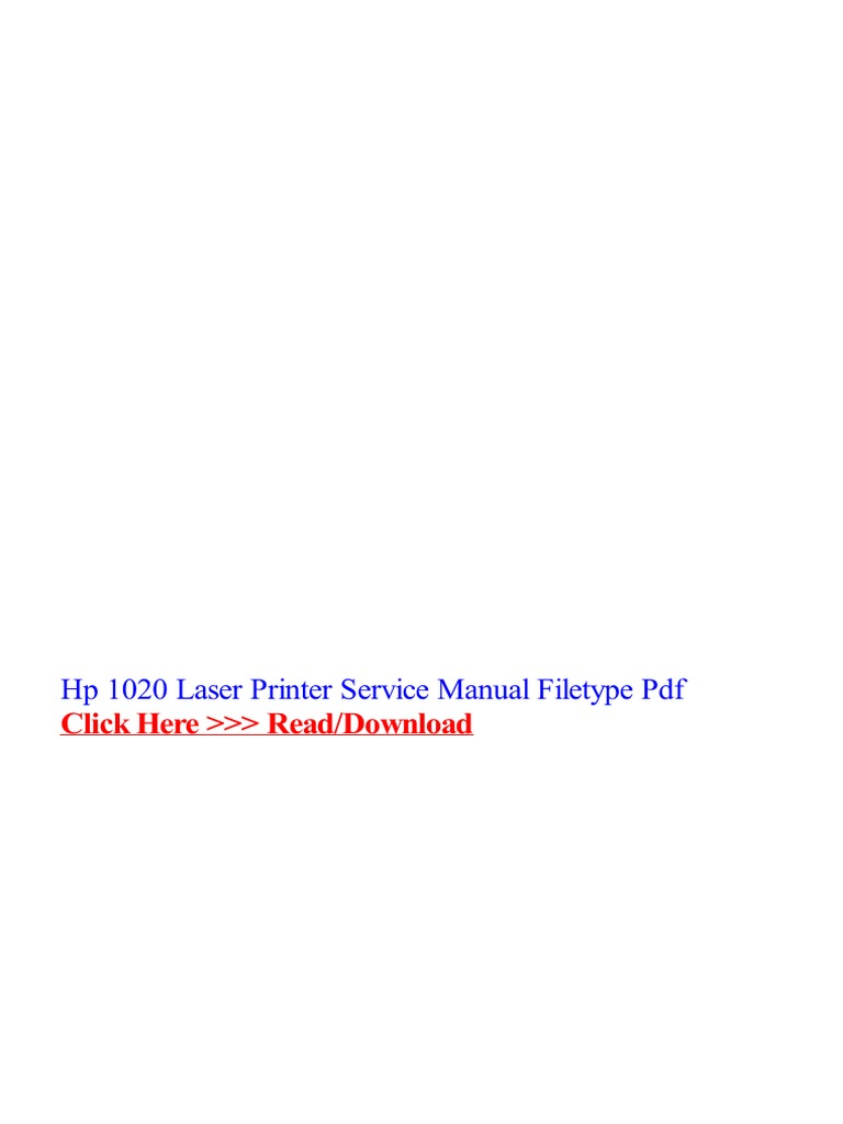 hp-1020-laser-printer-service-manual-filetype-pdf.pdf | Printer (Computing)  | Portable Document Format