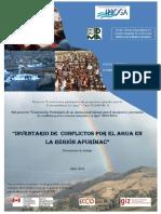 Inventario de Conflictor Por El Agua en La Region Apurimac