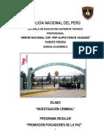 Silabo Metodología de La Investigacion Criminal 2016-2017 (1)