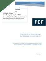 TEOLOGÍA DE LA ESPIRITUALIDAD MATRIMONIAL EN JUAN PABLO II
