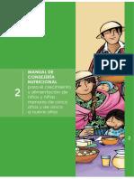 1. Manual de Consejería Nutricional Para Niños y Niñas Menores de 5 Años y de 5 a 9 Años