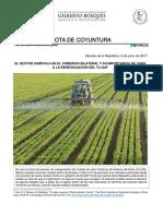 15-06-17 El Sector agrícola en el comercio bilateral y su importancia de cara a la renegociación del TLCAN