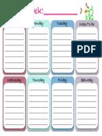 Weekly Planner Cute PDF