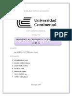 Salinidad, Alcalinidad y Sodicidad Del Suelo