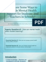 what are some ways to provide mental health support in schools