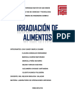 Inform. de Irradiacion de Alimentos