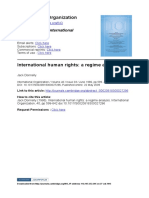 DONNELLY International Human Rights a Regime Analysis IO 1986
