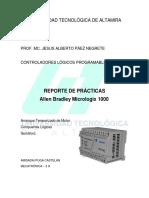 Reporte Practicas Allen Bradley Micrologix Plc