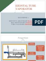 Horizontal Tube Evaporator