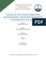 Supervisor, Residente y Superintendente