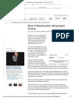 Bank of Baroda Plans Rating-based Lending - The Economic Times