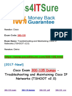 New Pass4itsure Cisco 300-135 Dumps PDF - Troubleshooting and Maintaining Cisco IP Networks (TSHOOT v2.0)