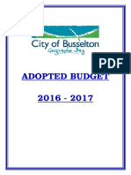 City of Busselton - Adopted Budget 2016-2017